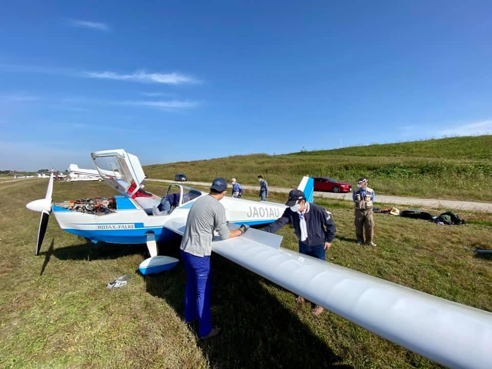 11月1日(日) ASK21 耐空検査前整備 Falke☓5